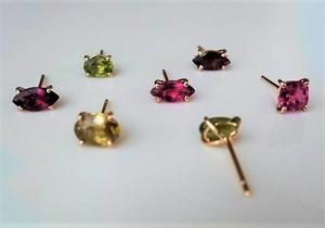 K18 Tourmarine Pierced Earings (1peace)