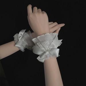 【お取り寄せ】ロリィタ シンプルリボン お袖止め 2色