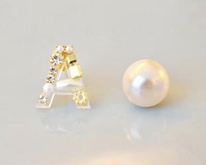 【A】Initial bijou pierce/earring