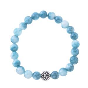 【Artemis Classic (アルテミスクラシック)】海色水晶数珠ブレス8mm ACB0112