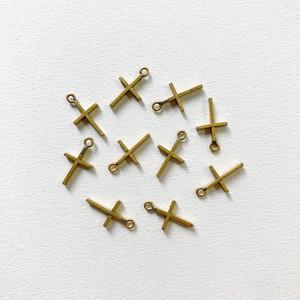 シンプル真鍮クロスチャーム