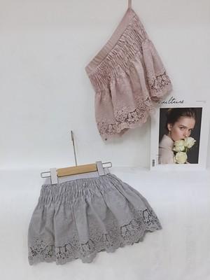 15%off【在庫限り】ボトムレースパンツスカート