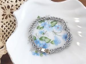 Twin rope bracelet ー silver ー