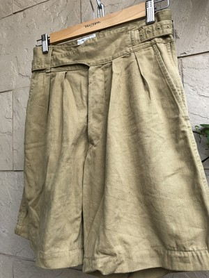Old British military khaki Gurkha shorts 1