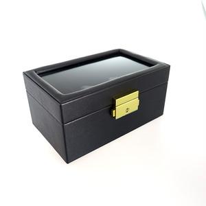 ペアウォッチ アクセサリーボックス 鍵付き PAIR-BOX ブラック ブラック