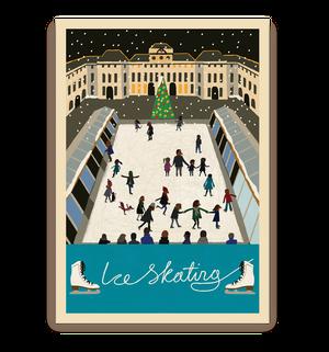 ロンドン ポストカード(アイススケート)
