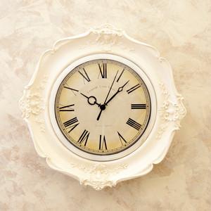 3color【Gold・Silver・white】 Rococo antique雑貨 【壁掛け時計】