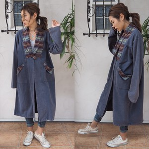 【50%OFF】 Ethnic Long Coat 《NAVY》