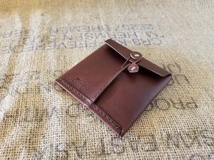 薄い財布・革封筒ハーフ 革:チョコ