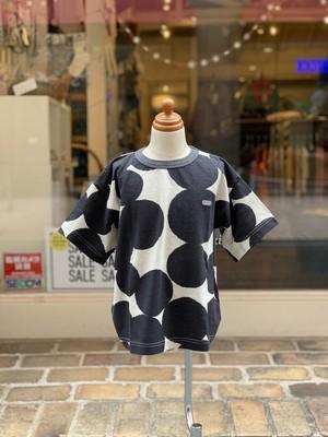 KIDS:FITH【フィス】綿麻ドットプリント BIG Tシャツ(ブラック/BM:90cm)