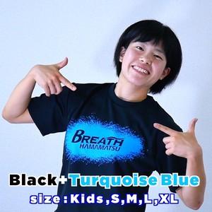 Tシャツ【ブラック+ターコイズブルー】