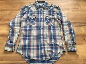 アメリカ製 ビンテージ wrangler ラングラー ネル チェック ウエスタンシャツ