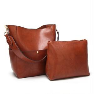 Large Capacity Composite Bag Casual Tote Bag Leather Shoulder Bag Daily Handbag カジュアル ショルダーバッグ トートバッグ レザー ハンドバッグ (HF99-8961746)