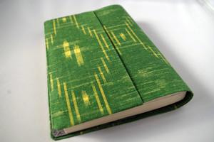 文庫本セパレート式ブックカバー(絹・越後紬)hb065