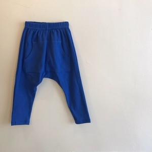 サルエル風スウェットパンツ☆ロイヤルブルー ラストS・90サイ