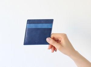 10° パスケース(藍染・牛革)電子マネー・カードケース