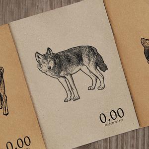 再生紙ノート(オオカミ)
