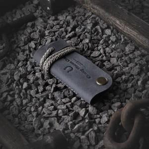 223 Leather Key Organizer & Holder Stone Grey