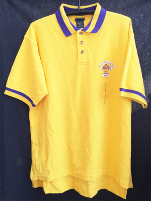 NBA L XL XXL 2XL ロサンゼルス レイカース LAKERS ポロシャツ イエロー 黄色 YELLOW 1117