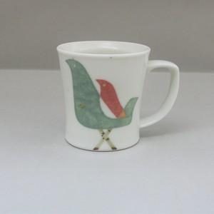 和紙染鳥 マグカップ