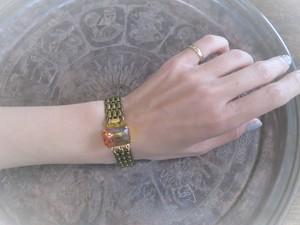 オーロラクラスプブレスレット vintage bracelet <BL-clau>