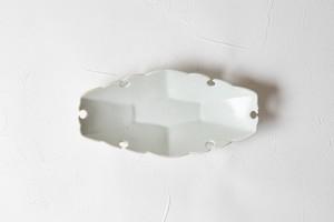 [幾田 晴子]白瓷 六角雪輪舟形小皿