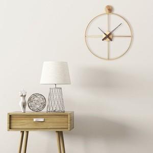 wood gold wall clock / ウッド ゴールド ウォール クロック 壁掛け時計 韓国 北欧