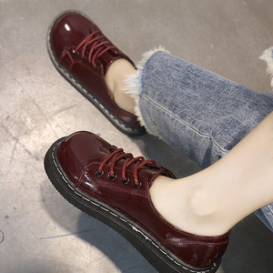 【flat-shoes】fashion 2018 new students Korean loafer