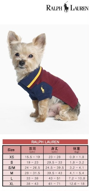 犬服(ドッグウェア)RALPH LAUREN ラルフ Dog Color-Blocked Polo