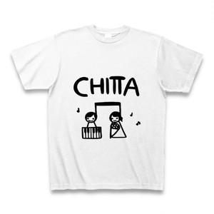 Tシャツ 「CHITTA オリジナルイラストデザイン カラー;ホワイト」