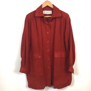 YVES SAINT LAURENT velour shirt