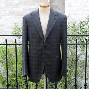 【アウトレットSALE】Sartoria Caracciolo ハンドメイド スーツ 48 - Grigio Vintage Quadri