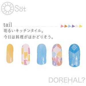 DOREHAL OSOT tail ドレハル 定形外で送料無料 貼るだけ簡単ネイルシール ジェルネイル風 貼るネイル ネイルラップ マニキュアシール 007