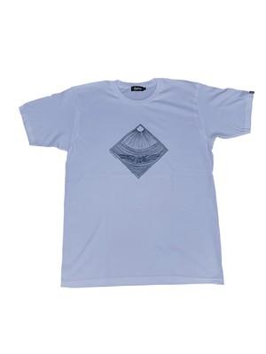 19123 後染めプリントTシャツ ホワイト