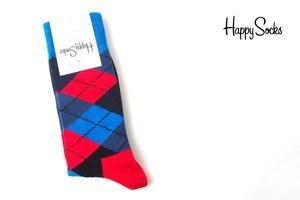 ハッピーソックス|happy socks|クルー丈カジュアルソックス|アーガイル柄ソックス