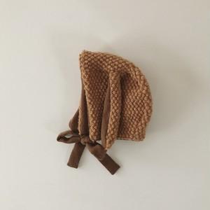 pocopoco rabbit bonnet : chestnuts (size XS,S,M)