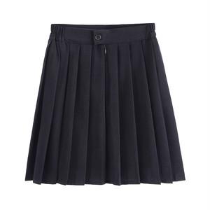 プリーツスカート 大きいサイズ 制服スカート 女子スクールスカート 無地 女子高生 JKスカート ミニスカート ゴム2967