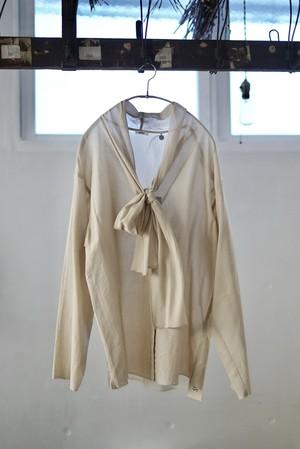 NOWOS /  bou tie blouse(beige)