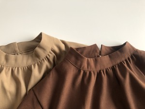 fake suede button blouse