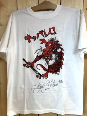 KUSTOMTEE STEVE CABALLERO DRAGON WHITE L(直筆サイン入り)