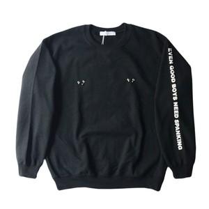 LABRAT body piercing sweat shirt 黒サイズL