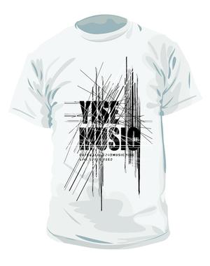 《YISE-MUSIC》スタッフTシャツ  WHITE