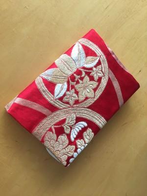 贅沢!綺麗な袋帯で作ったA5サイズブックカバー