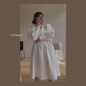 【即日発送】ホワイトワンピース