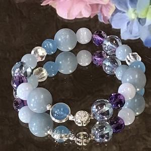 心の浄化と人間関係にお疲れの方に☆青い紫陽花ブレスレット