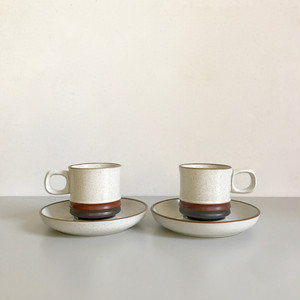 """Denby """"Potters Wheel"""" Cup & Saucer 70's-80's イギリス"""