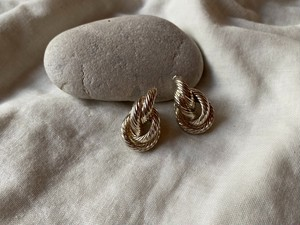 〈vintage silver925〉double ring pierce