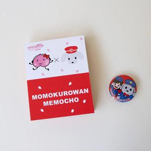 ももクロワンメモ帳セット(メモ帳 赤×缶バッジ かなこぉ)