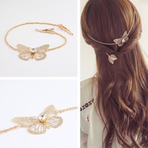 蝶々ゴールドヘアアクセサリー