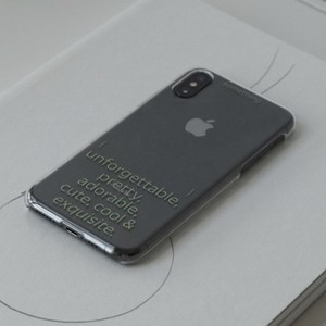 【t.e.a】Blank Clear Hard / iphone スマホ ケース カバー 韓国雑貨